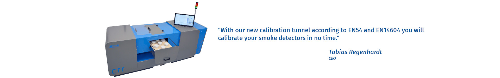 Check out or calibration tunnel for smoke detector testing.